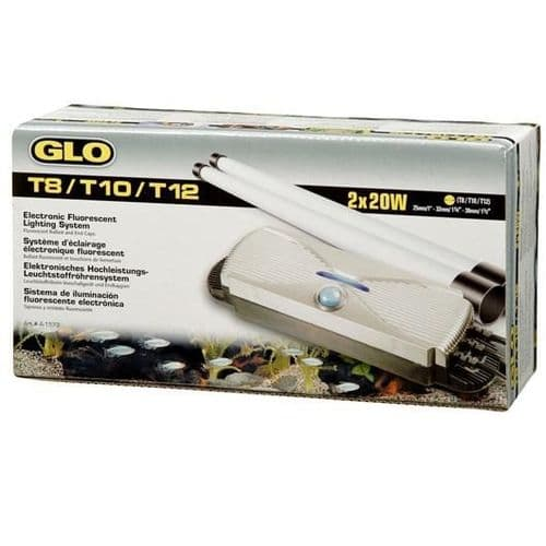 GLO T8 Electronic Fluorescent Lighting System for 2 x 20 W T8